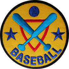 Factory Custom Patches Embroidered Logo Baseball patch Sport badge Iron sew on velcro applique for Clothing  can be customized