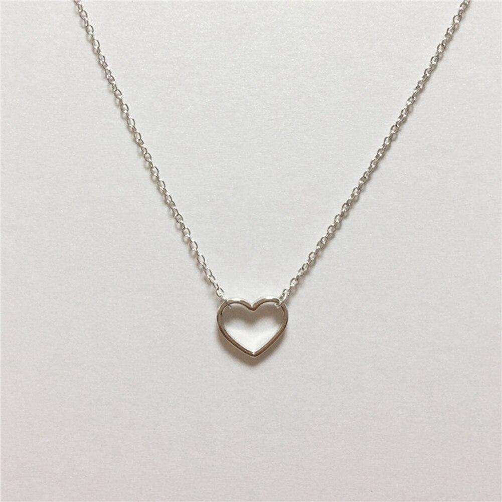 Պարզ ոճով սրտի վզնոց 925 կանանց զարդեր - Նուրբ զարդեր - Լուսանկար 2