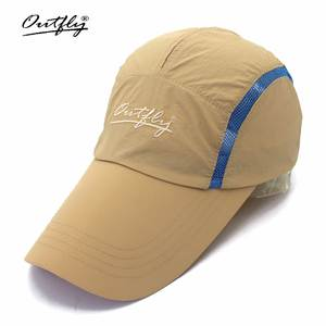 1677edeb21c Outfly Lengthen the hat and dry cap new Visor tennis spring and summer  light breathable sunscreen sun hat fishing cap visor