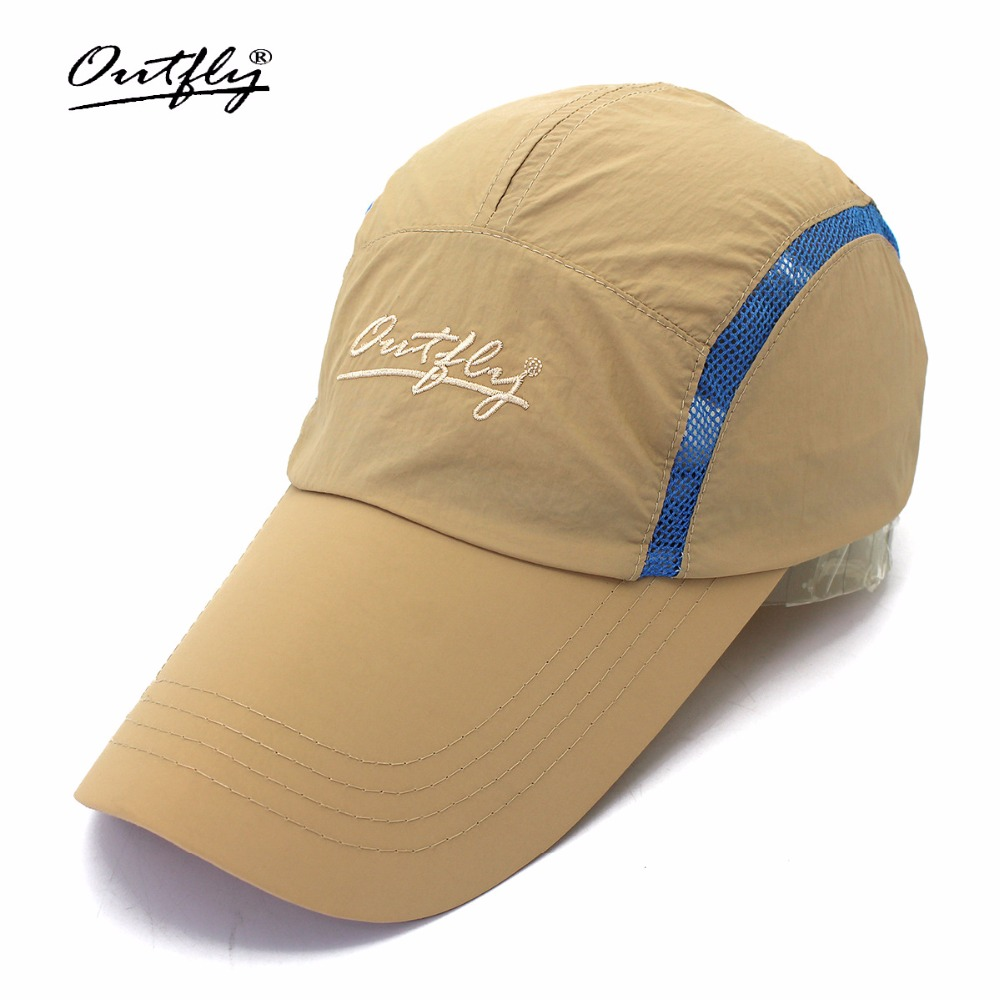 Outfly Տղամարդկանց Long Brim Բեյսբոլի գլխարկ Արագ չոր թենիսի գլխարկ Ամառային թեթև շնչառական արևի գլխարկ Sunshade Ձկնորսական գլխարկ