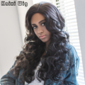 Long Curly Black Female Wig Synthetic Wigs for Black Women Long Black Wig Heat Resistant Cheap Wigs for Women