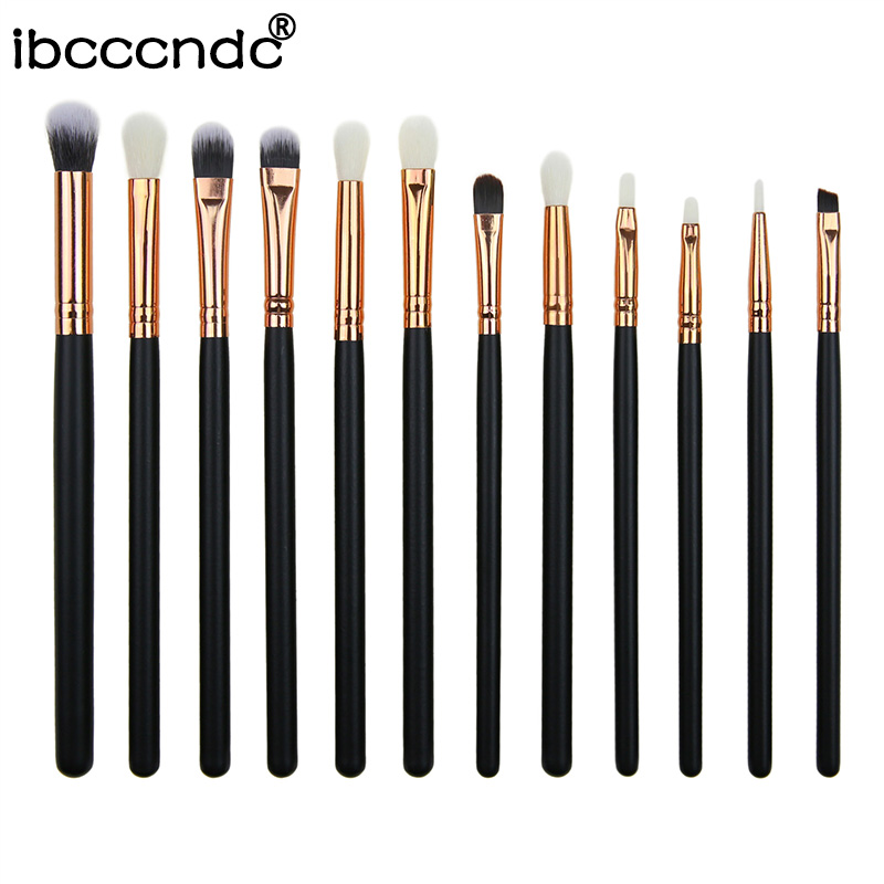 Foundational Eyeliner Makeup-Brushes-Set Eyeshadow Cosmetic Make-Up Mini 12pcs Lip