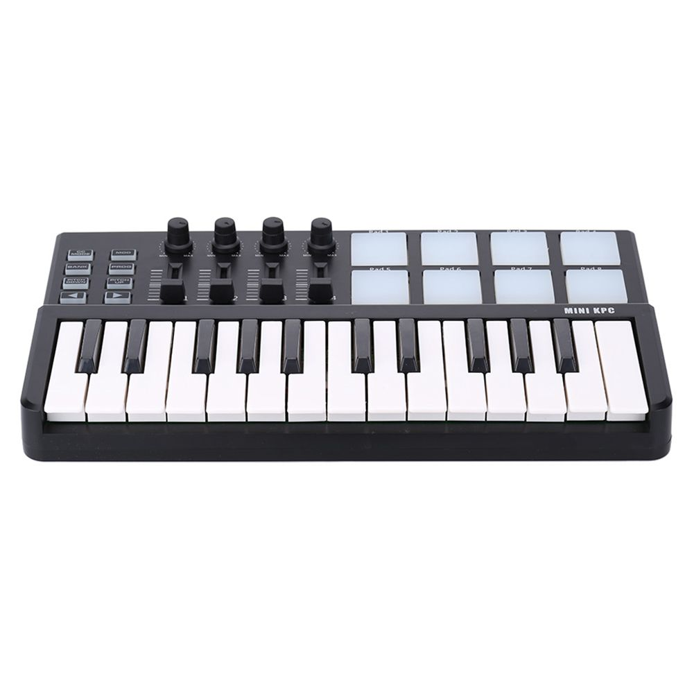 SEWS-WORLDE Panda MIDI Keyboard 25 Keys Mini Piano USB Keyboard and Drum Pad MIDI Controller