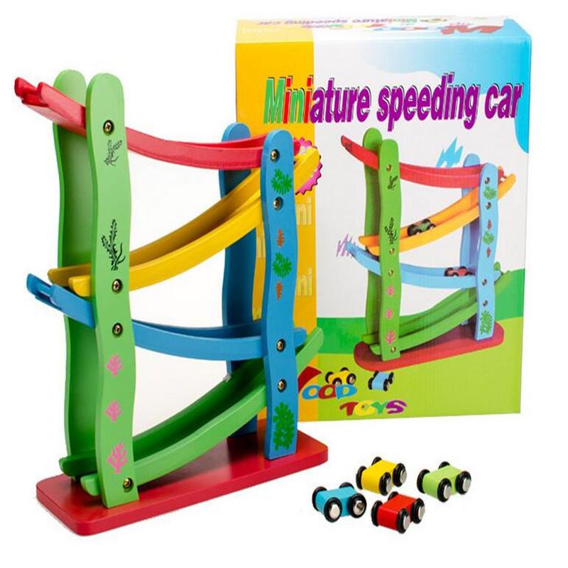 rampa de madera grande muchacho de la raza de coche nios juguetes juegos para nios con