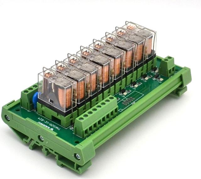 $ Number canales módulo de relé de control DEL PLC panel compuesto de salida del amplificador Junta TNKGZR-1E-824P PNP 24 V/12 V