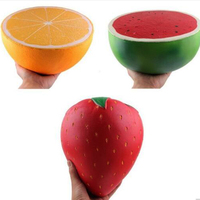 Watermelon Strawberry Orange Squishy Rising Simulation PU Fruit Giant Squishies Cream Scented Squeeze Stress Relief Toys For Kid