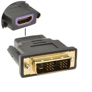 Image 1 - HDMI ソケットに 18 + 1 DVI D 男性プラグ変換アダプタゴールド