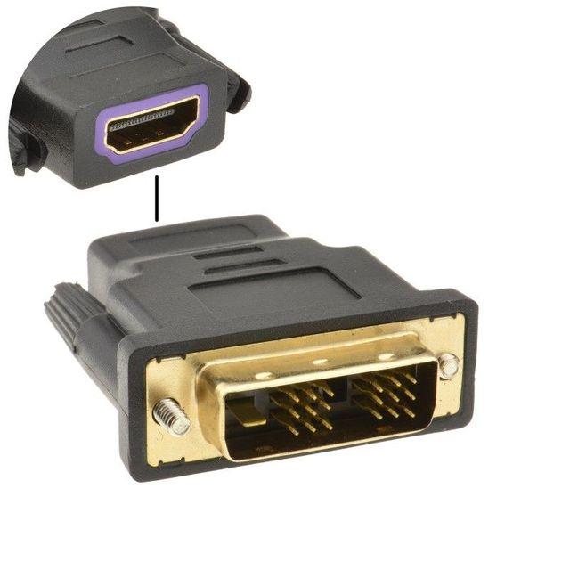 HDMI ソケットに 18 + 1 DVI D 男性プラグ変換アダプタゴールド