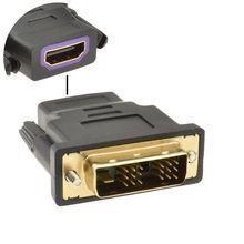 HDMI Ổ Cắm để một 18 + 1 DVI D Nam Cắm Adapter Chuyển Đổi Vàng