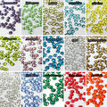 SS6 1.9-2mm 1440 pcs /pack crystal many colors 3d Nail Art decorations Non Hot Fix Glue on rhinestones for nails stone DIY