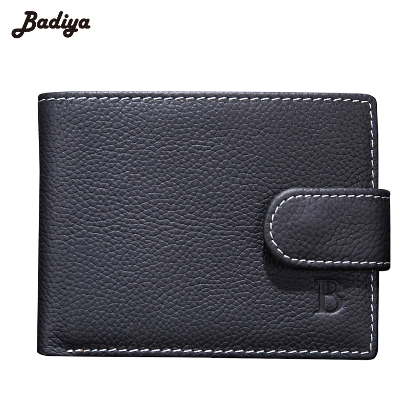 Genuine Leather Bifold Short Wallet Men Dollar Price Horizontal Lichee Pattern Coins Purses Hasp Money Bag Walet Male Carteira zelda wallet bifold link faux leather dft 1857