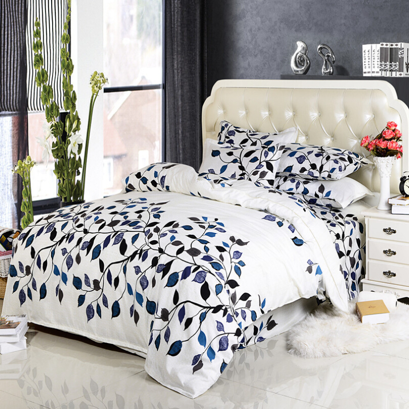 Minimalist Style 100% Cotton Bedspread Cotton Bedding Family Of Four  Bedclothes Linen Quilt Set