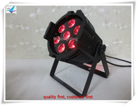 Free shipping American Dj 7pcs 18W DMX Led par Mini 6 in 1 RGBWAUV Led Par Can Lumiere Lamp Sound Actived Disco Stage Light