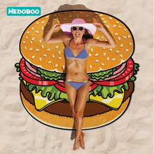 Medoboo Baby Beach Receiving Blanket Children Mom Beach Towel Pad Round Printed Beach Mat Blanket Shawl Swimming Bath Towel 20 women large bath towel for beach thick round 3d sugar skull printed beach towel fabric quick compressed towel tapestry yoga mat