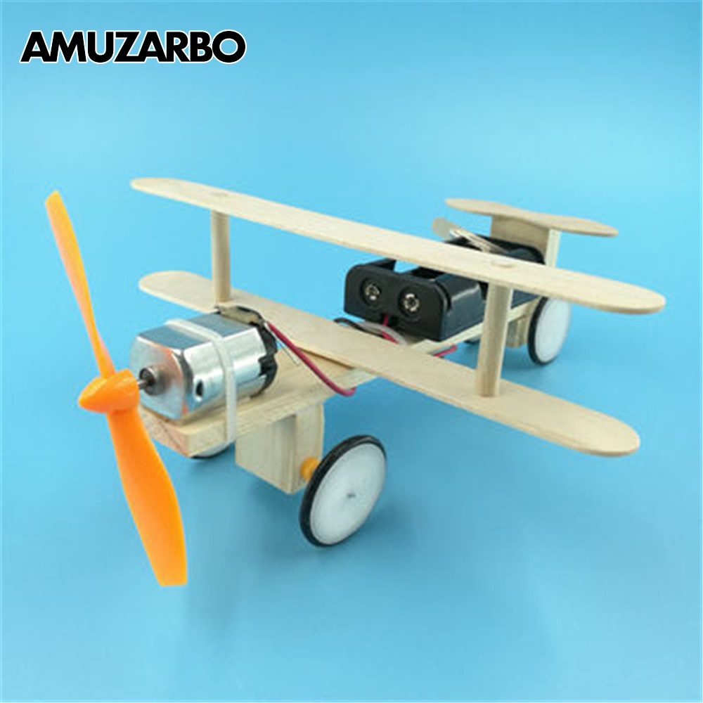 1 Set DIY Technology Small Invention Electric Gliding Aircraft Model Student Science Experiment Toys Handmade Model