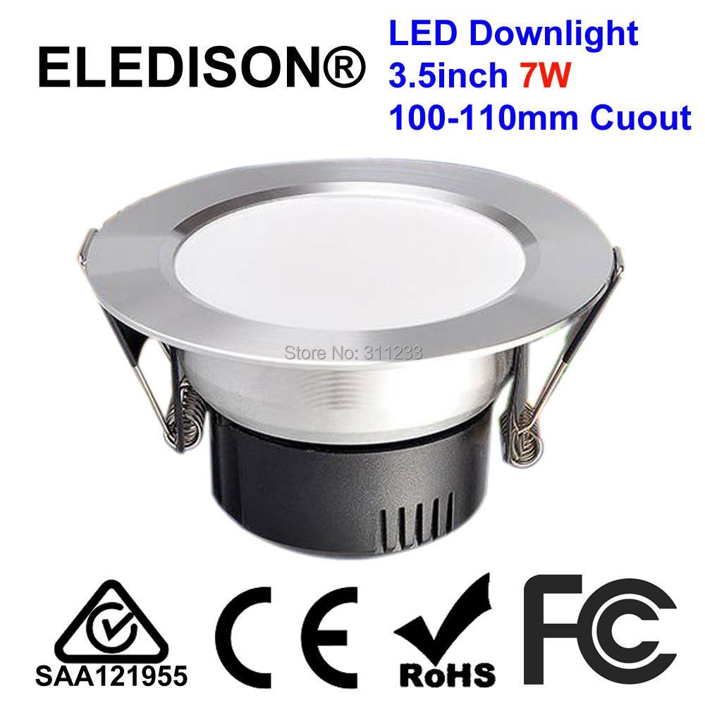 3.5 дюйма светодиодные светильники лампы 7 Вт 100 мм вырез 85-265 В встраиваемые с LED Driver Блестящий Белый уход за кожей лица бытовой энергосберегаю...