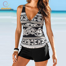 2020 Tankini Swimsuits Women Plus Size Swimwear Two Piece Swimsuit Push Up Bathing Suits Beach Wear Swimming Suit For Women XXXL