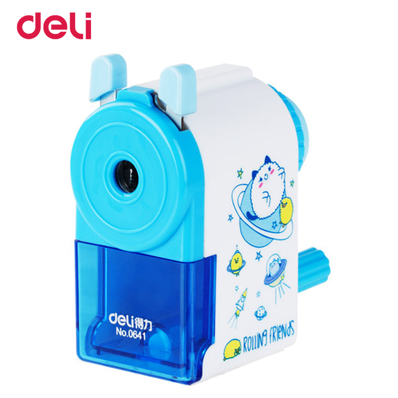 Kwaii Deli Mechanical pencil sharpener Stationary Office apontador Hand-operated manual sharpener School supplies for kids deli 0620 manual pencil sharpener heavy duty quiet for office home and school school chancery stationery desk clamp included