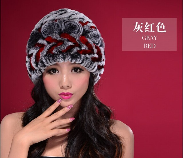Beaver rabbit wool hat fur hat with thick winter hat for women-in ... 7c1baeefd76