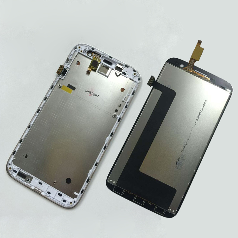 For Lenovo A859 Full Touch Screen Digitizer Sensor Glass + LCD Display Panel Monitor Assembly with Frame Bezel