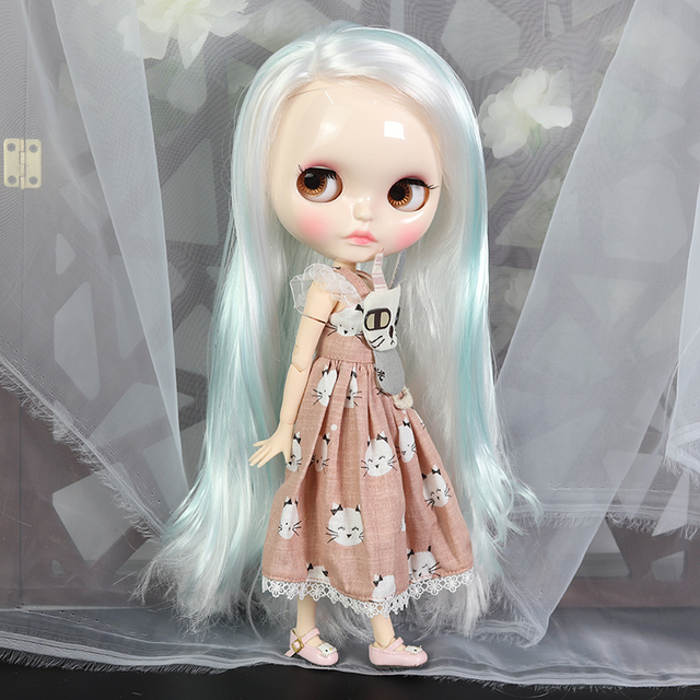 ICY Neo Blythe Doll White Blue Hair Jointed Body