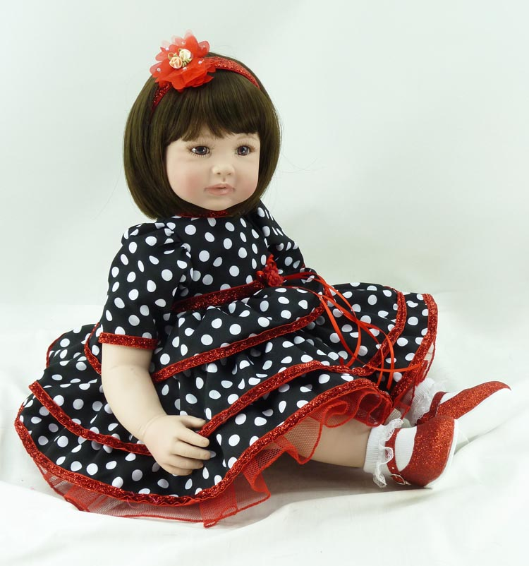 55cm Soft Silicone Reborn Baby Doll 22'' Vinyl Princess Doll Girls Brinquedos Play House Toy Kids Christmas Birthday Gift 22 58cm rebirth doll soft silicone eva matryoshka doll princess reborn domino dress blond kid christmas gift