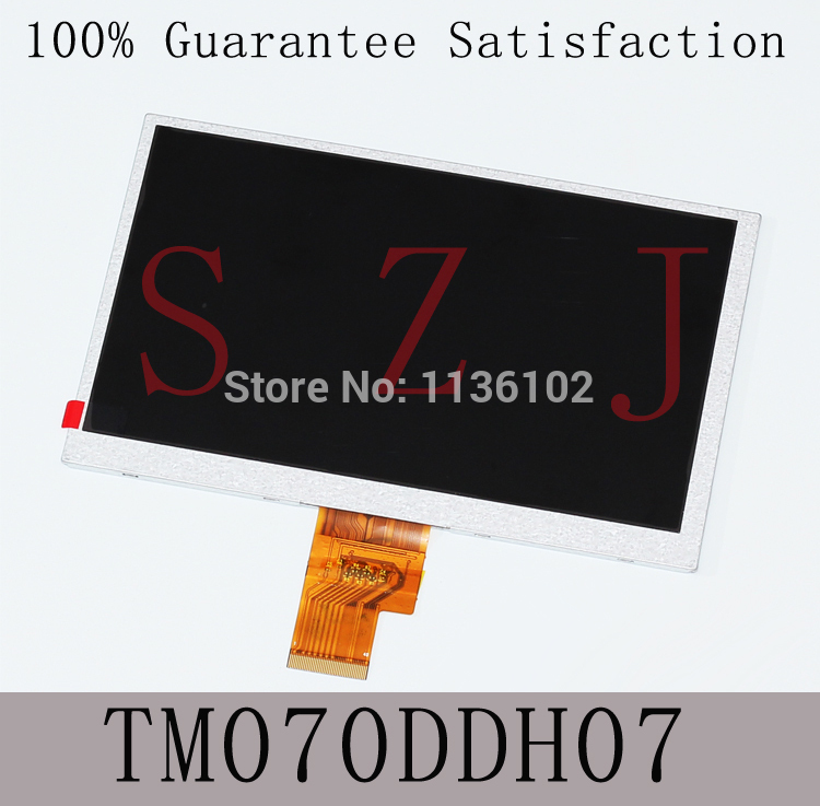 (Ref:TM070DDH07) <font><b>7</b></font> inch HD <font><b>40</b></font> <font><b>pin</b></font> LCD display screen inside the tablet Free shipping image