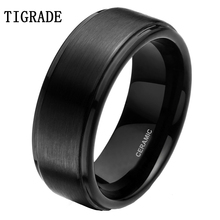 6mm 8mm Black Ceramic Ring Men Wedding Band Engagement Rings Male Jewelry Bague Ceramique Maleanel masculino For Women