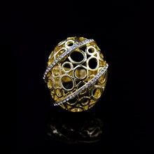 Słoneczny biżuteria biżuteria 2021 duża weselna damska pierścionek koktajlowy stop cyrkonia owalna gwiazda na wesele codzienny prezent