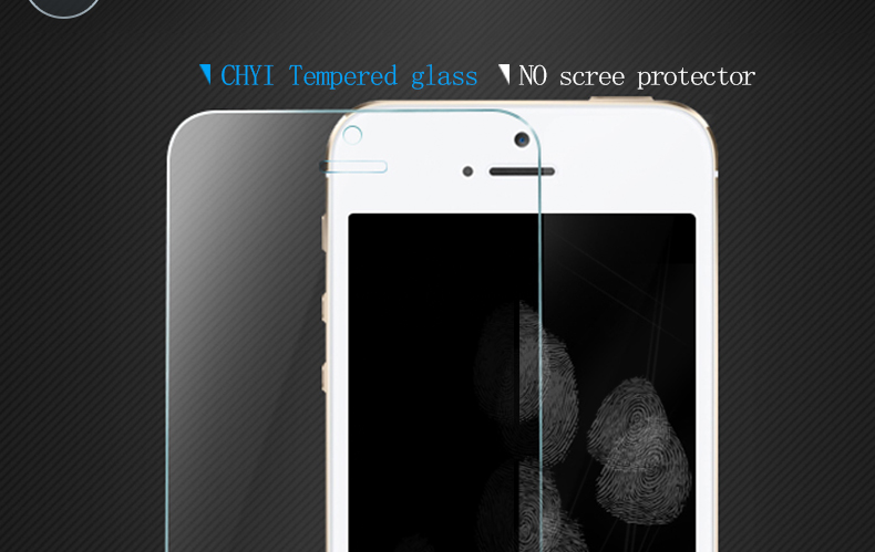 CHYI for iphone 5s glass 9h hardness full coverage explosion-proof tempered glass 5S iphone on glass open the front camera hole 14