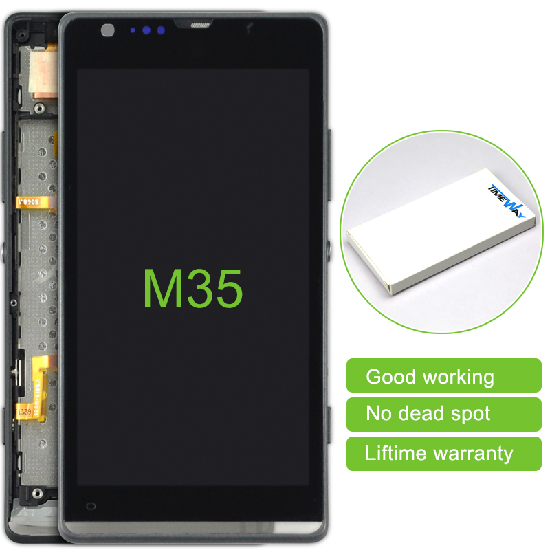 alibaba china 2pcs For Sony Xperia SP M35h M35 M35i new LCD Display Touch Screen Digitizer Assembly with Frame Free Shipping alibaba china 2 pcs black white lcd display touch screen digitizer without frame assembly for sony xperia z3 mini free shipping
