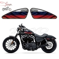 Russian Flag Graphics Fuel Tank Decals Stickers For Harley Sportster XL 883 1200 X/V/R/N/L/C Iron Forty Eight Seventy Two