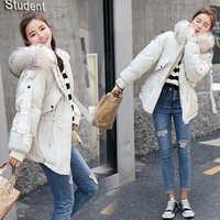 冬の女性厚み暖かい収集ウエストコートビッグ毛皮の襟フード付きカジュアル固体冬の綿パッド入りジャケット 3XL