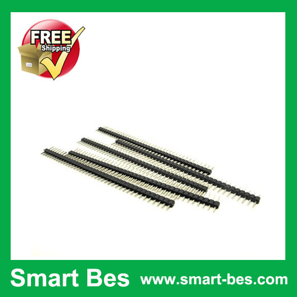 ~Smart Bes! 10 2mm 40pin Single Row Male Pin Header Copper ROHS connector electronic components - Shenzhen S-Mart Electronics Co., Ltd~ 24hour fast shipping~ store