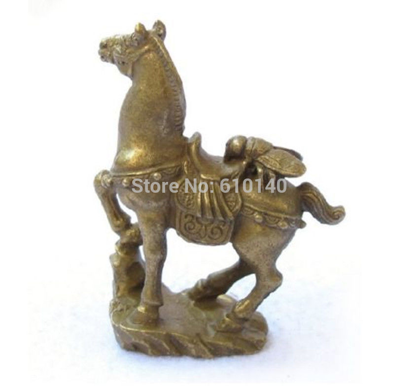 Small Collectibles Brass Fly&Horse Statues