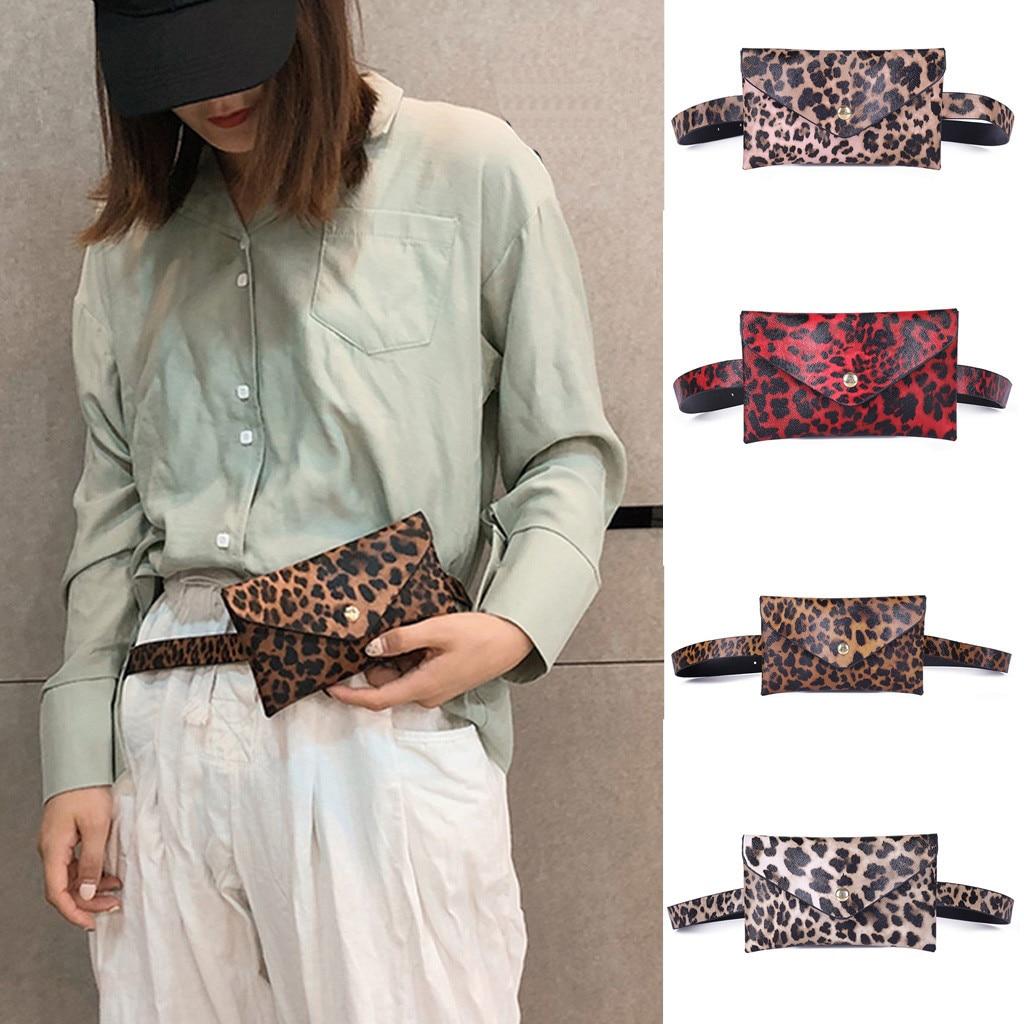 Purse Horse-Hair Leopard Decorative-Pockets Mobile-Phone-Bag Women New-Fashion Casual