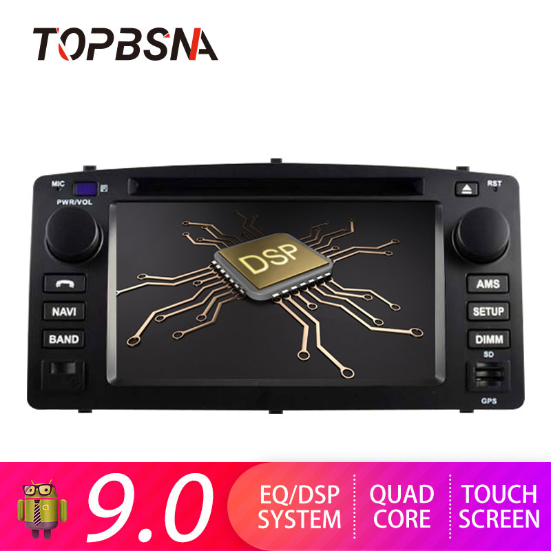 Lecteur multimédia DVD de voiture TOPBSNA 2 Din Android 9.0 pour Toyota Corolla E120 BYD F3 GPS Navigation autoradio vidéo stéréo WIFI CD