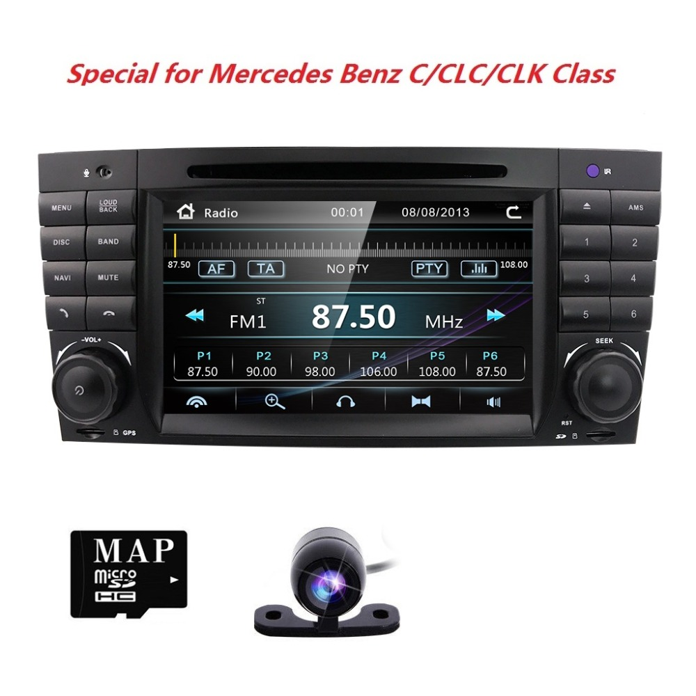 2 din Car Radio Car DVD Player Stereo Audio For Mercedes Benz C Classs CLC W 203 CLK W 209 2004 2005 2006 2007GPS Navi 3G BTSWC