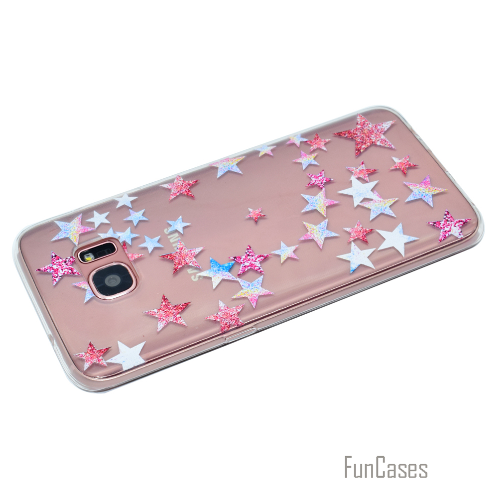 Cute Phone Case For Samsung Galaxy S7 Coque Dandelion Style Soft TPU Capa For Samsung S7 Fundas Rose Wind Chime Back Cover