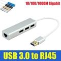 Binmer USB 3.0 для RJ45 10/100/1000 М Сетевой Карты Gigabit Ethernet Сетевой Адаптер + 3 Порта usb-концентратор для Macbook Окна 10