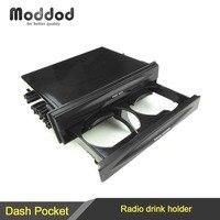 Uno Din Auto Universale Radio CD Refitting Pocket Stereo Dash Installazione Montaggio Cassetto Con Drink Cup Holder Storage Box
