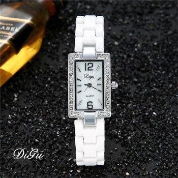 ded68b252d6e Прямоугольные керамические часы DIGU Модные женские наручные часы женские  лучший бренд знаменитые Кварцевые часы Женские часы Relogio Feminino