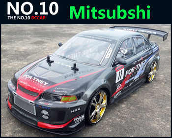 Large RC Car 1:10 High Speed Racing Car For Mitsubishi Championship 2.4G 4WD Radio Control Sport Drift Racing electronic toy