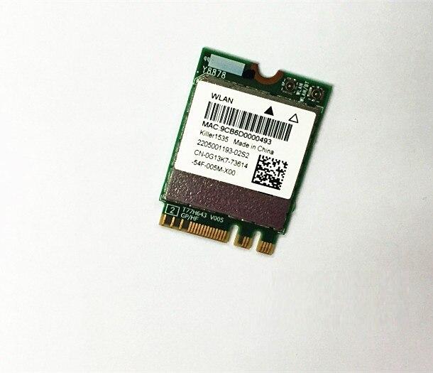 SSEA carte de gros pour tueur sans fil-AC 1535 802.11ac NGFF M.2 double bande wifi + Bluetooth 4.1 pour Alienware 17 R3 15 R2 13 R2
