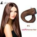 Laurel Clip en el pelo de cabello extensiones Dark Brown brasileño de la virgen del pelo 70 g 80 g 100 g 18 24 pulgadas 60 cm colorida del pelo del Clip extensiones de cabello