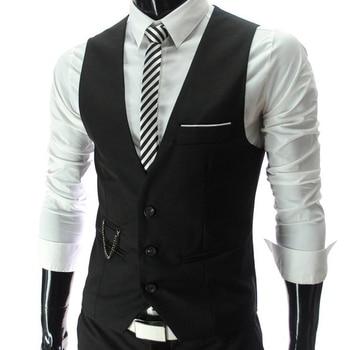 waistcoat for men Wedding vest men 2019 New Mens Vests Gentleman Slim Fit Social Mens Vest Party Gilet Square Tie Suit Set 7893 1