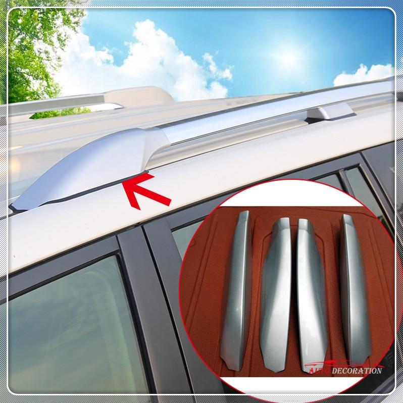 For Toyota Prado Fj150 J150 2010-2018 Silver Roof Rack Side Rails Bar Cap Parts Car styling Exterior Accessories Cover