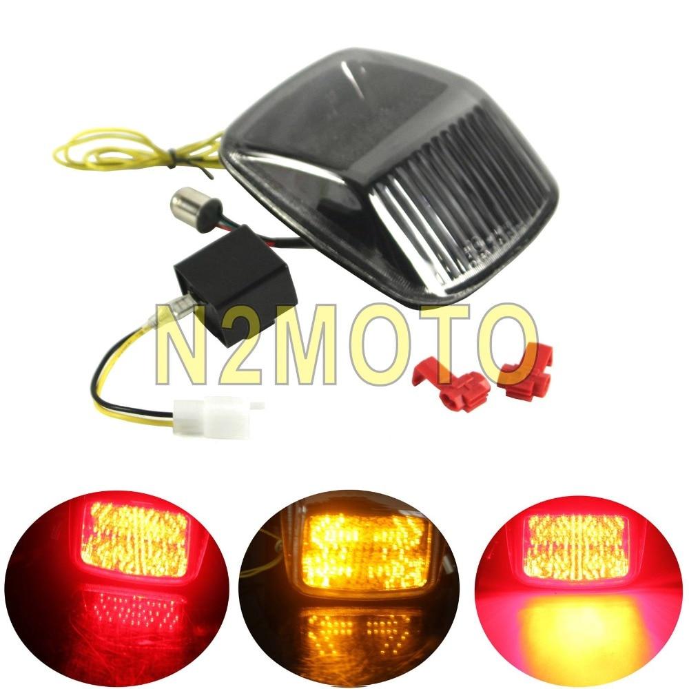 Motorcycle Integrated Taillight Turn Signal Light Arrow Indicator Tail Brake Light For Harley Deuce V-ROD Vrod 2002-2011