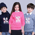 Winter Girls Boys Sweater Sika Deer Pattern Cardigans For New Year Clothing Christmas Sweater Cardigan Of Kids Baby Outfits Coat