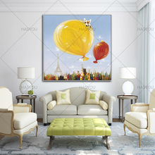 Best Handmade Abstract Tower city street Oil Paintings wall art paintings On Canvas Beautiful landscape